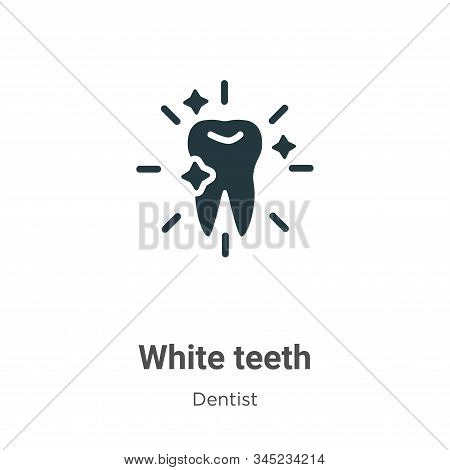 White teeth icon isolated on white background from dentist collection. White teeth icon trendy and m