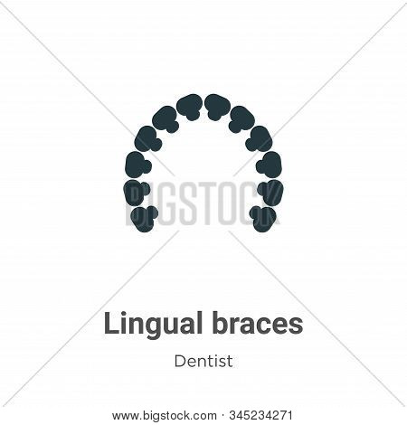 Lingual braces icon isolated on white background from dentist collection. Lingual braces icon trendy
