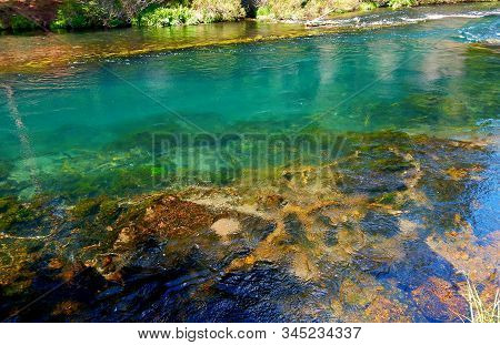 Water Colors - A View Along The Metolius River - North Of Camp Sherman, Or