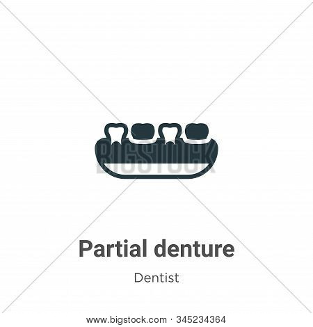 Partial Denture Vector Icon On White Background. Flat Vector Partial Denture Icon Symbol Sign From M