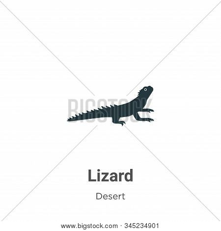 Lizard icon isolated on white background from desert collection. Lizard icon trendy and modern Lizar
