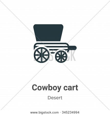 Cowboy cart icon isolated on white background from desert collection. Cowboy cart icon trendy and mo