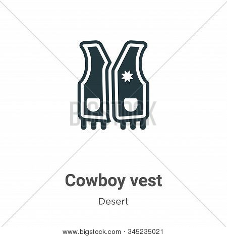 Cowboy vest icon isolated on white background from desert collection. Cowboy vest icon trendy and mo
