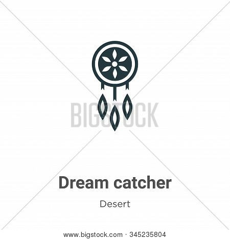 Dream Catcher Vector Icon On White Background. Flat Vector Dream Catcher Icon Symbol Sign From Moder