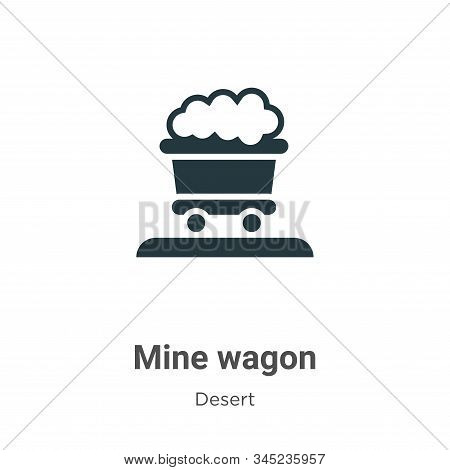 Mine wagon icon isolated on white background from desert collection. Mine wagon icon trendy and mode
