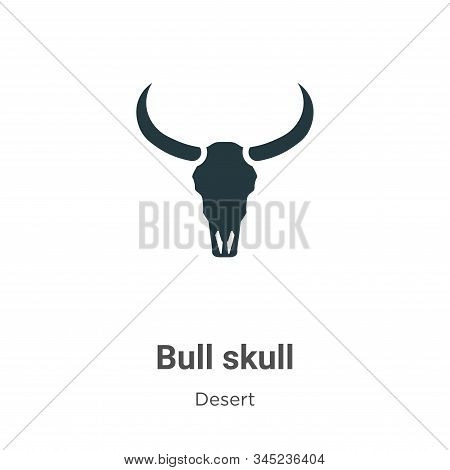 Bull skull icon isolated on white background from wild west collection. Bull skull icon trendy and m