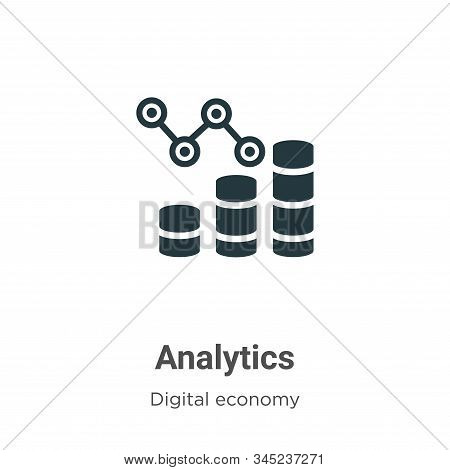 Analytics icon isolated on white background from digital economy collection. Analytics icon trendy a