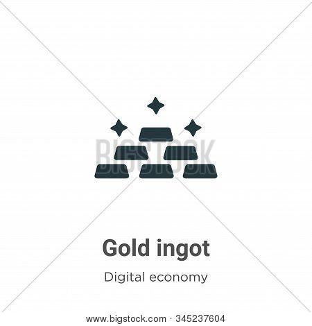 Gold ingot icon isolated on white background from digital economy collection. Gold ingot icon trendy