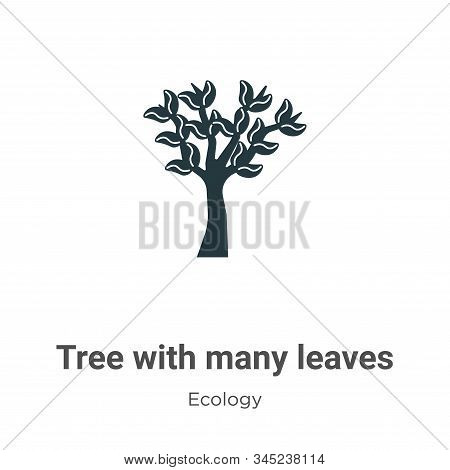 Tree with many leaves icon isolated on white background from ecology collection. Tree with many leav