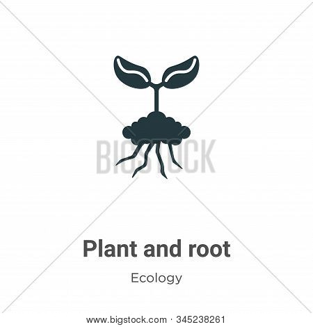Plant and root icon isolated on white background from ecology collection. Plant and root icon trendy