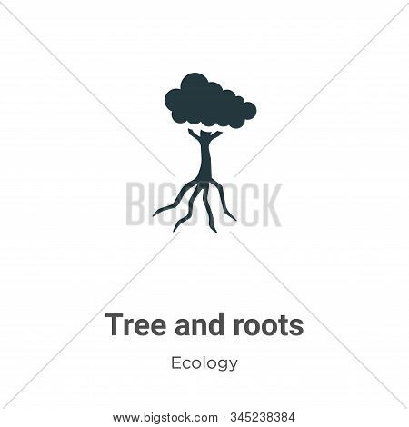 Tree and roots icon isolated on white background from ecology collection. Tree and roots icon trendy