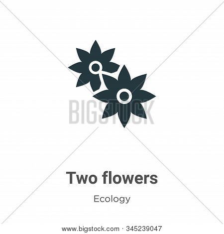 Two flowers icon isolated on white background from ecology collection. Two flowers icon trendy and m