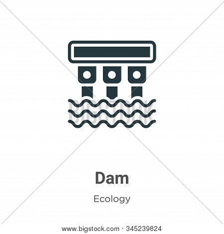 Dam icon isolated on white background from ecology collection. Dam icon trendy and modern Dam symbol