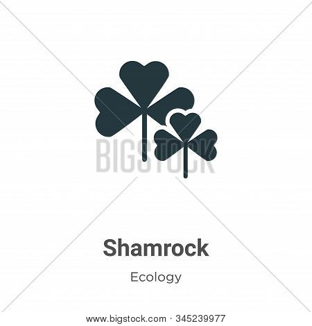 Shamrock icon isolated on white background from ecology collection. Shamrock icon trendy and modern