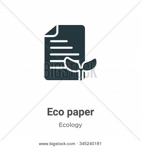 Eco paper icon isolated on white background from ecology collection. Eco paper icon trendy and moder