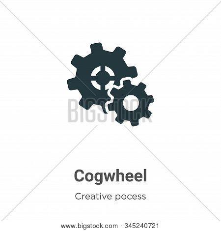 Cogwheel icon isolated on white background from creative pocess collection. Cogwheel icon trendy and