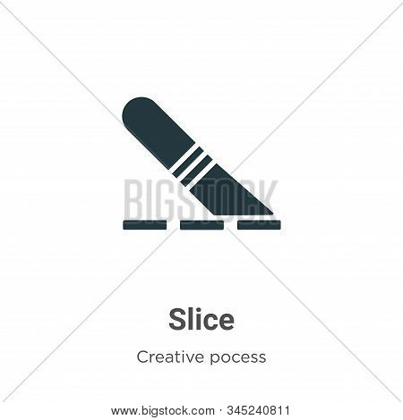 Slice icon isolated on white background from creative pocess collection. Slice icon trendy and moder