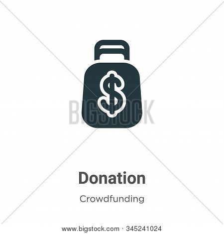 Donation icon isolated on white background from crowdfunding collection. Donation icon trendy and mo
