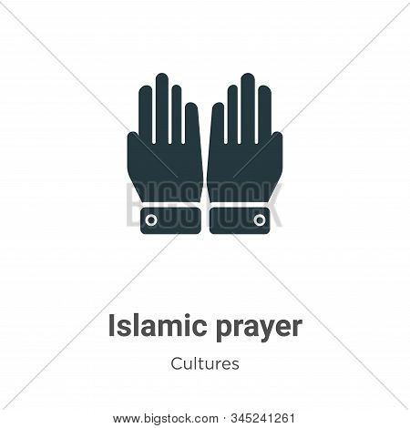 Islamic Prayer Vector Icon On White Background. Flat Vector Islamic Prayer Icon Symbol Sign From Mod
