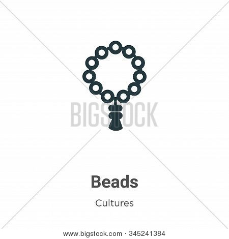 Beads icon isolated on white background from cultures collection. Beads icon trendy and modern Beads