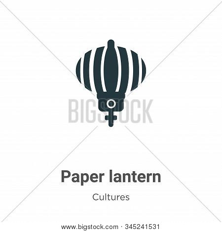Paper lantern icon isolated on white background from cultures collection. Paper lantern icon trendy