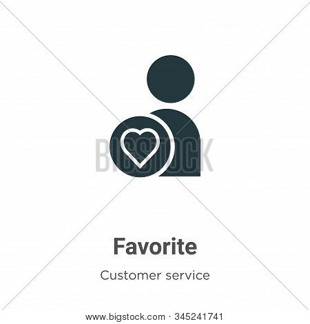 Favorite icon isolated on white background from customer service collection. Favorite icon trendy an