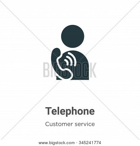 Telephone icon isolated on white background from customer service collection. Telephone icon trendy