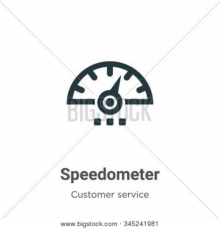 Speedometer Vector Icon On White Background. Flat Vector Speedometer Icon Symbol Sign From Modern Cu