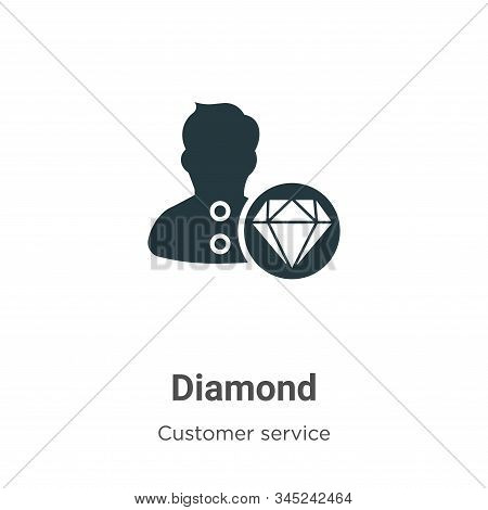 Diamond icon isolated on white background from customer service collection. Diamond icon trendy and