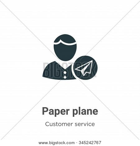 Paper plane icon isolated on white background from customer service collection. Paper plane icon tre