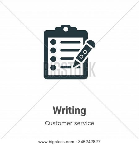 Writing icon isolated on white background from customer service collection. Writing icon trendy and