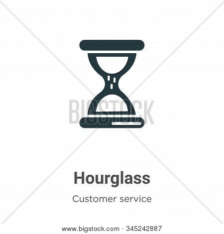 Hourglass icon isolated on white background from customer service collection. Hourglass icon trendy