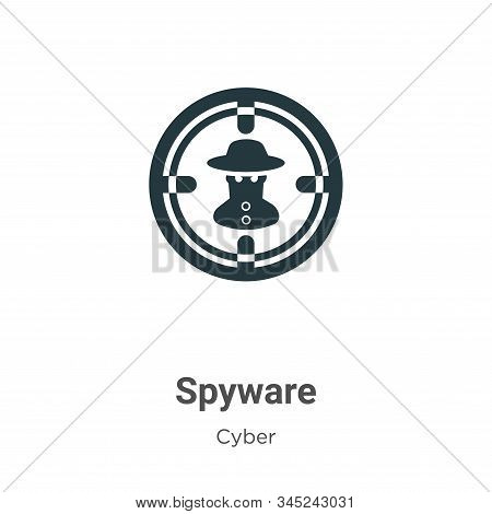 Spyware icon isolated on white background from cyber collection. Spyware icon trendy and modern Spyw