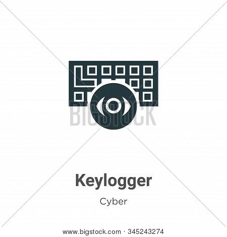 Keylogger icon isolated on white background from cyber collection. Keylogger icon trendy and modern