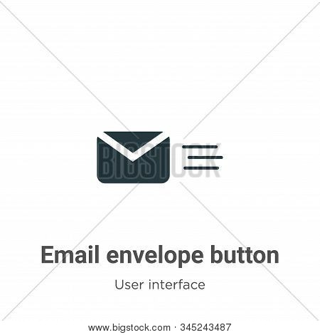 Email envelope button icon isolated on white background from user interface collection. Email envelo