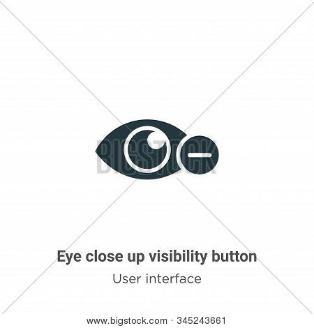 Eye close up visibility button vector icon isolated on white background from modern user interface c