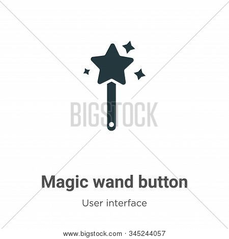Magic wand button icon isolated on white background from user interface collection. Magic wand butto