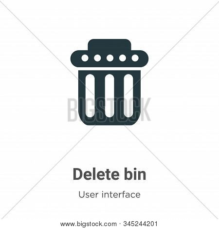 Delete bin icon isolated on white background from user interface collection. Delete bin icon trendy