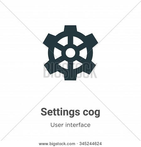 Settings cog icon isolated on white background from user interface collection. Settings cog icon tre