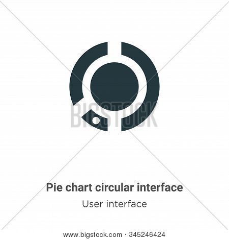 Pie chart circular interface icon isolated on white background from user interface collection. Pie c