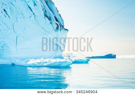 Big Icebergs In The Ilulissat Icefjord, West Coast Of Greenland