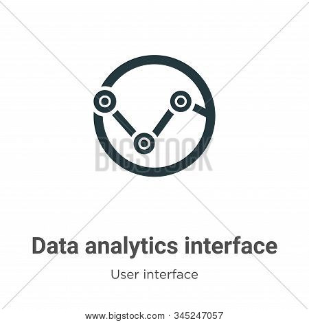 Data analytics interface icon isolated on white background from user interface collection. Data anal