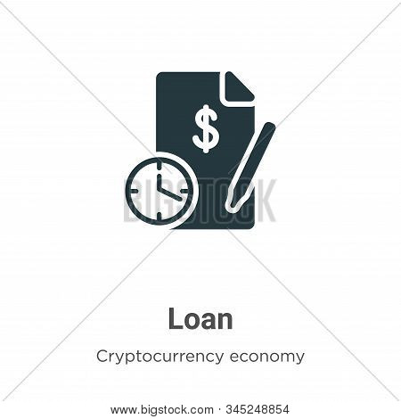 Loan icon isolated on white background from cryptocurrency economy and finance collection. Loan icon