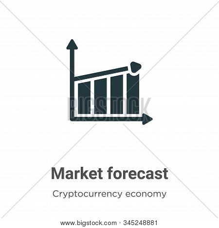 Market forecast icon isolated on white background from cryptocurrency economy and finance collection