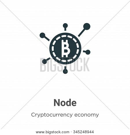 Node icon isolated on white background from cryptocurrency economy and finance collection. Node icon