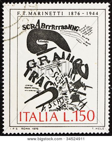 Postage stamp Italy 1976 The Gunner