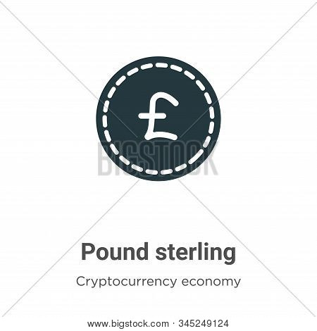 Pound sterling icon isolated on white background from cryptocurrency economy and finance collection.