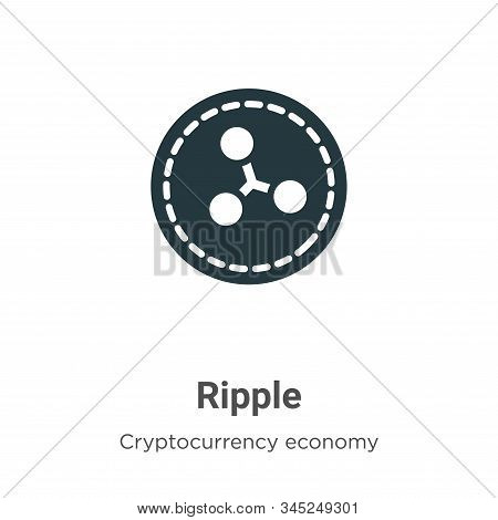 Ripple icon isolated on white background from cryptocurrency economy and finance collection. Ripple