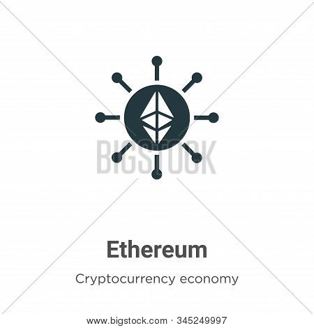 Ethereum icon isolated on white background from blockchain collection. Ethereum icon trendy and mode
