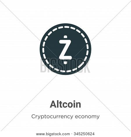 Altcoin icon isolated on white background from blockchain collection. Altcoin icon trendy and modern